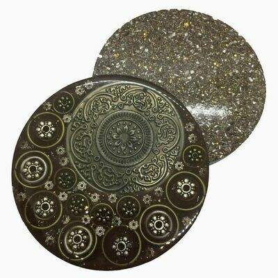 Orgonite Mini Charging Plate - Clear Quartz