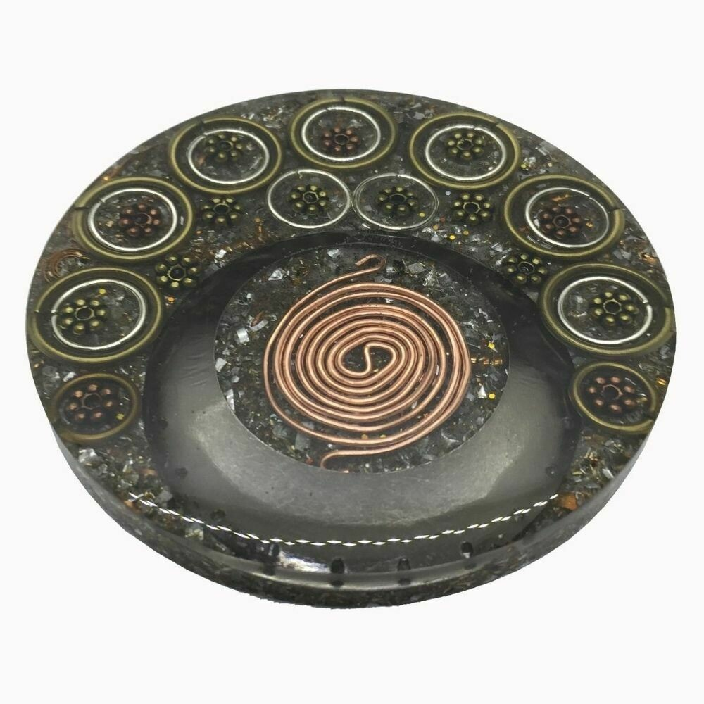 Orgonite Mini Charging Plate - Clear Quartz