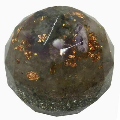 Orgonite Large Sphere - Labradorite & Amethyst