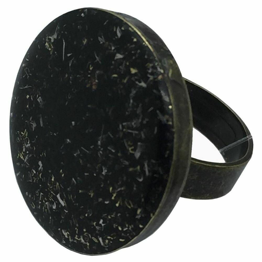 Orgonite Round Ring - Black Tourmaline