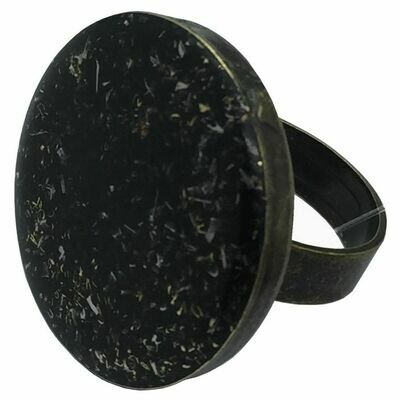 Orgonite Round Ring - Black Tourmaline