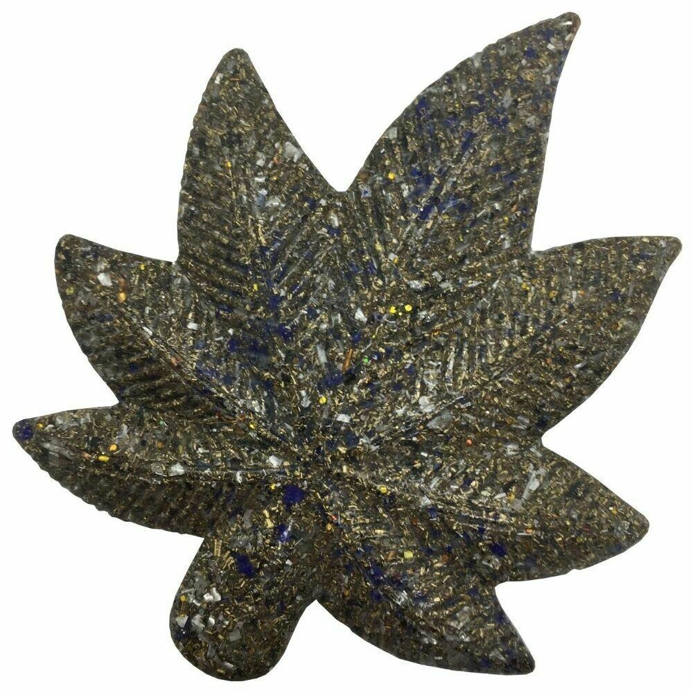 Orgonite Canna Leaf - Lapis Lazuli