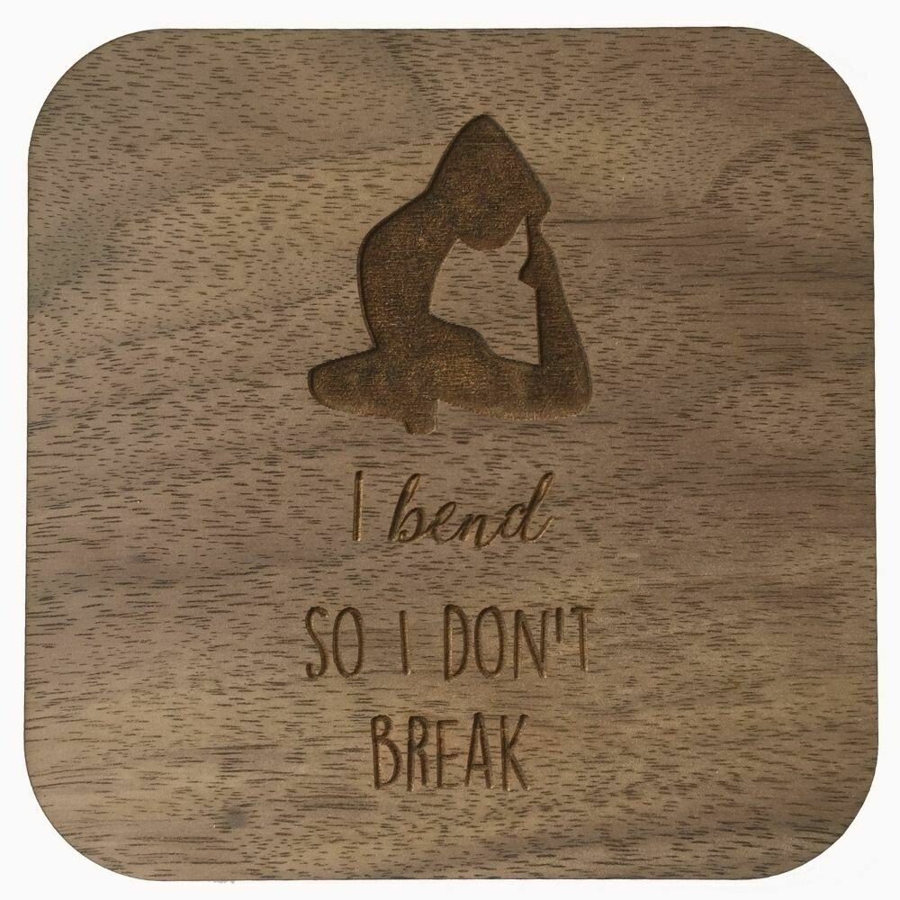 Boho Wall Plaque - I Bend So I Don't Break