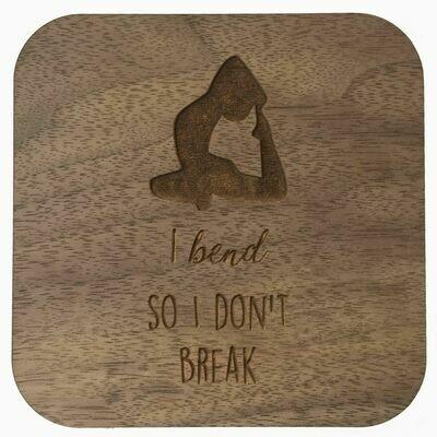 Boho Wall Plaque - I Bend So I Don't Break