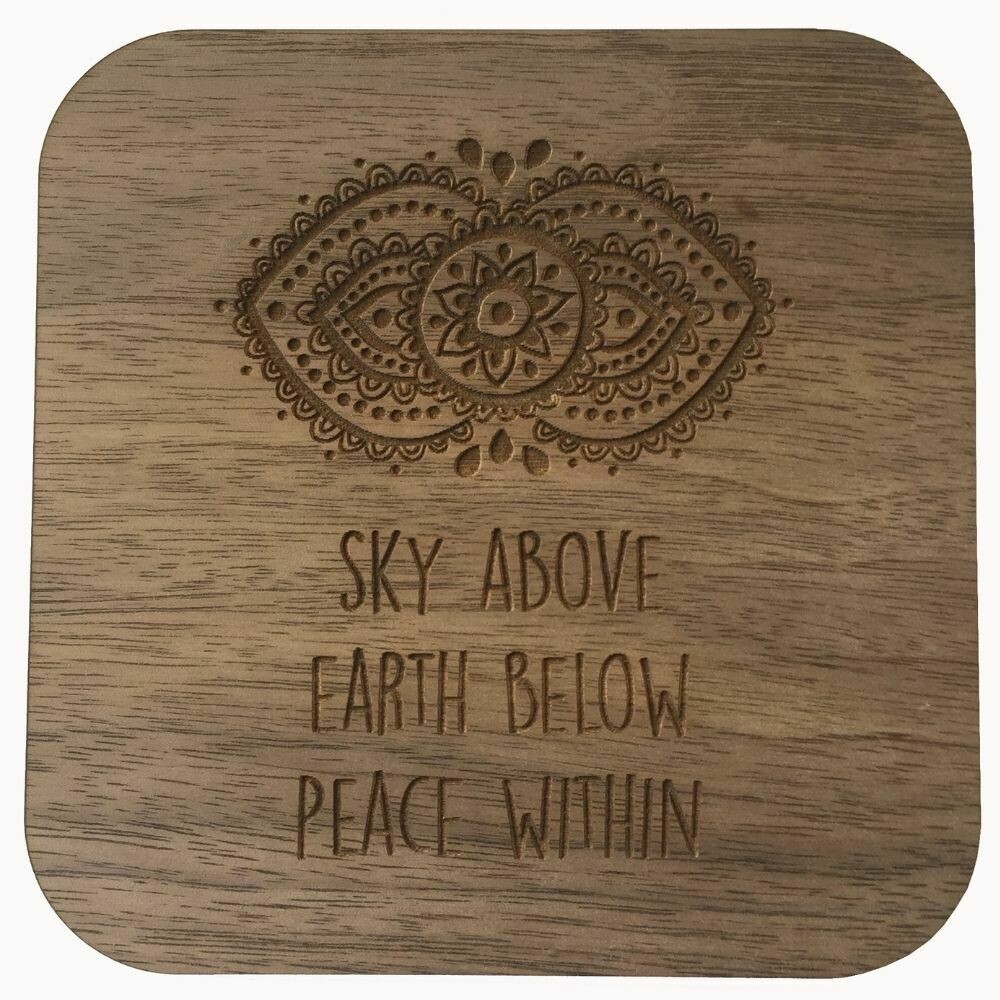 Boho Wall Plaque - Sky Above, Earth Below, Peace Within