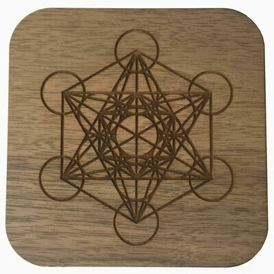 Boho Wall Plaque - Metatron's Cube