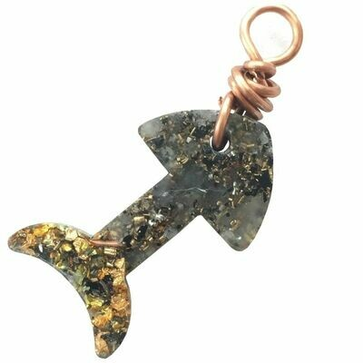 Orgonite Charms for Pets - Green Aventurine & Gold River Leaf