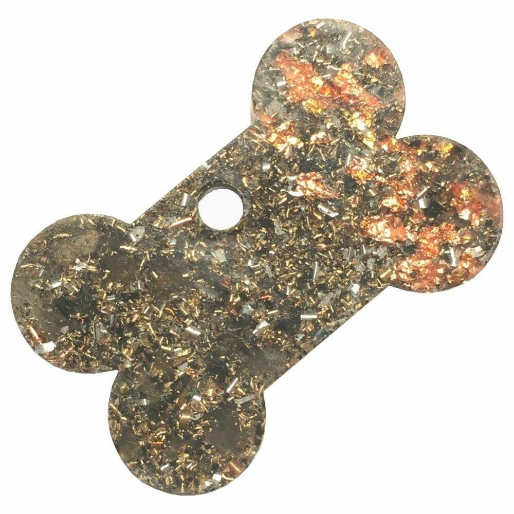 Orgonite Charms for Pets - Labradorite & Copper Starburst Leaf