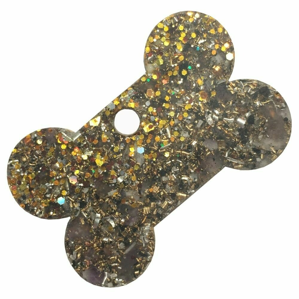 Orgonite Charms for Pets - Amethyst & Gold Glitter