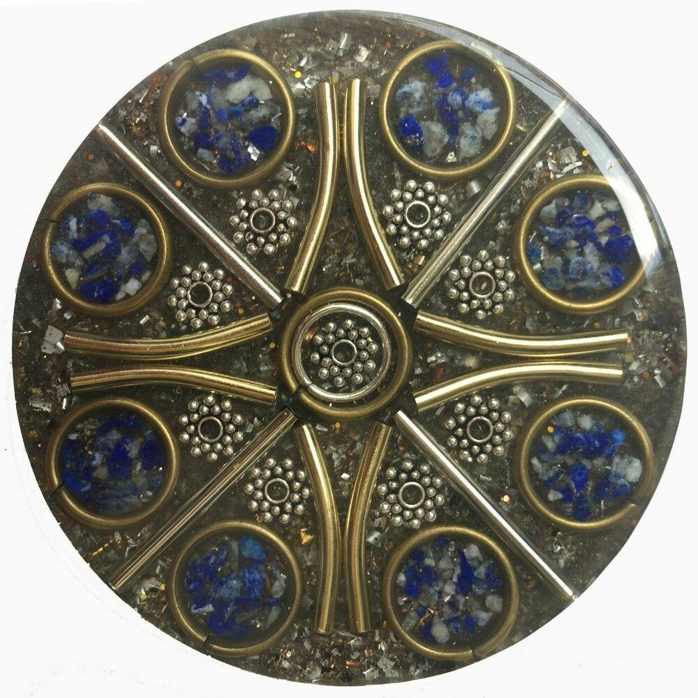 Orgonite Mini Charging Plate - Lapis Lazuli