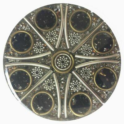 Orgonite Mini Charging Plate - Black Tourmaline