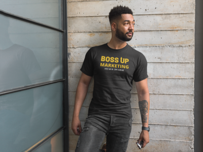 Bossup Tshirt (Black and Gold)
