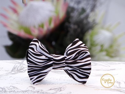 ZEBRA STRIPE DOG BOW TIE