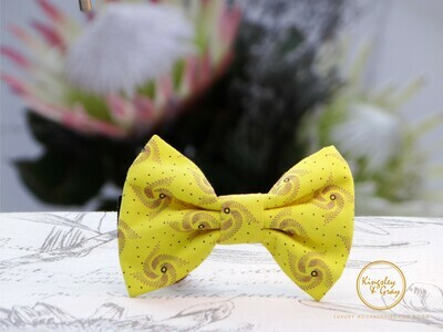 CHEETAH SHWESHWE DOG BOW TIE