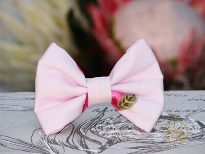 PINK ORCHARD DOG BOW TIE