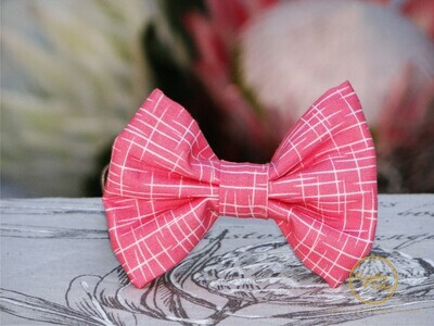 LIVING CORAL DOG BOW TIE