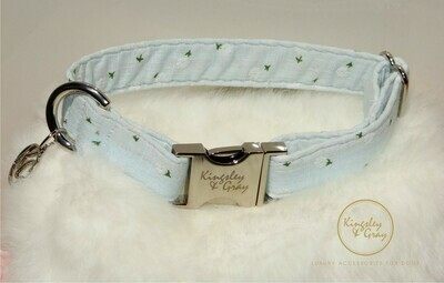 SMILEY BLUE DOG COLLAR