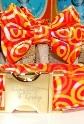 CITRUS SWIRL DOG BOW TIE