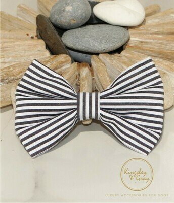 NAUTICAL STRIPE DOG BOW TIE