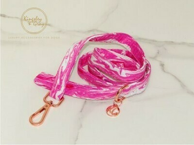 PINK MARBLE DOG LEAD
