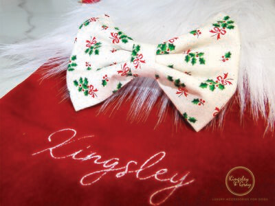 MISTLETOE DOG BOW TIE