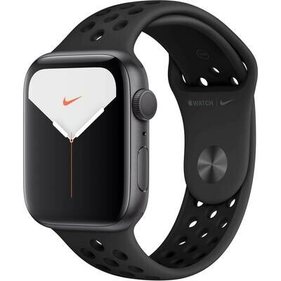 Apple Watch Series 5 - 44mm Space Gray Aluminum Case - Anthracite/Black Nike Sport Band