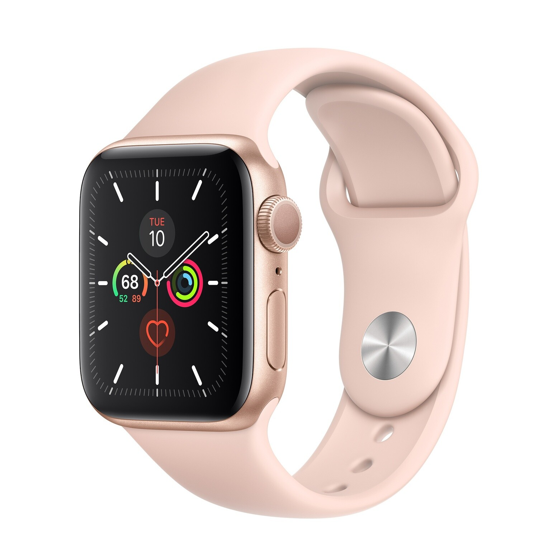 Apple Watch Series 5 - 44mm Gold Aluminum Case - Pink Sand Sport Band