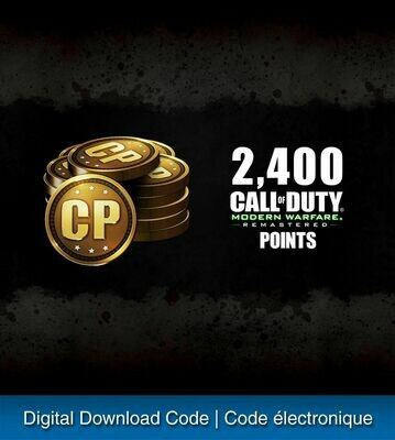 2,400 CALL OF DUTY: MODERN WARFARE POINTS