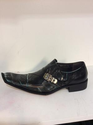 Men unique leather zota g838-103 black