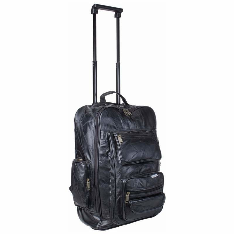 Real Leather rolling back bag  S