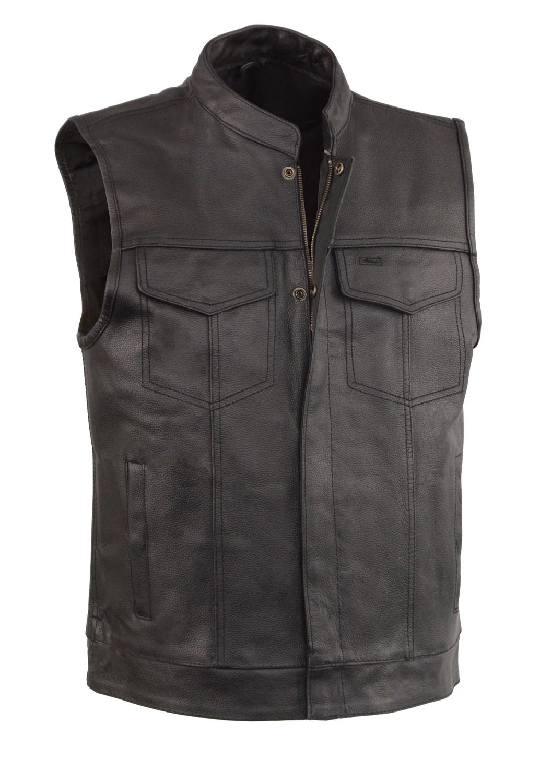 Leather Vest With 2 Gun Pocket