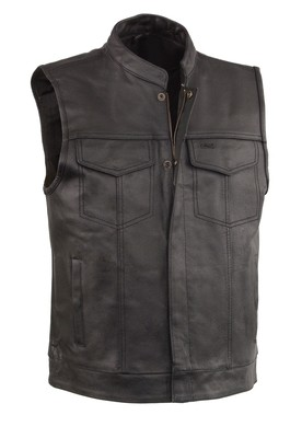 Leather Vest With 2 Gun Pocket