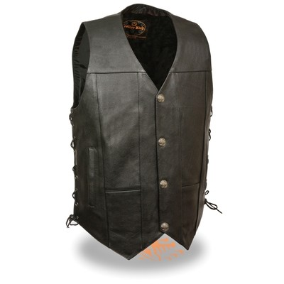 Men Leather Vest Milwaukee Brand
