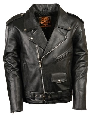 Men Motorcycle Leather Jacket  Milwaukee Brand