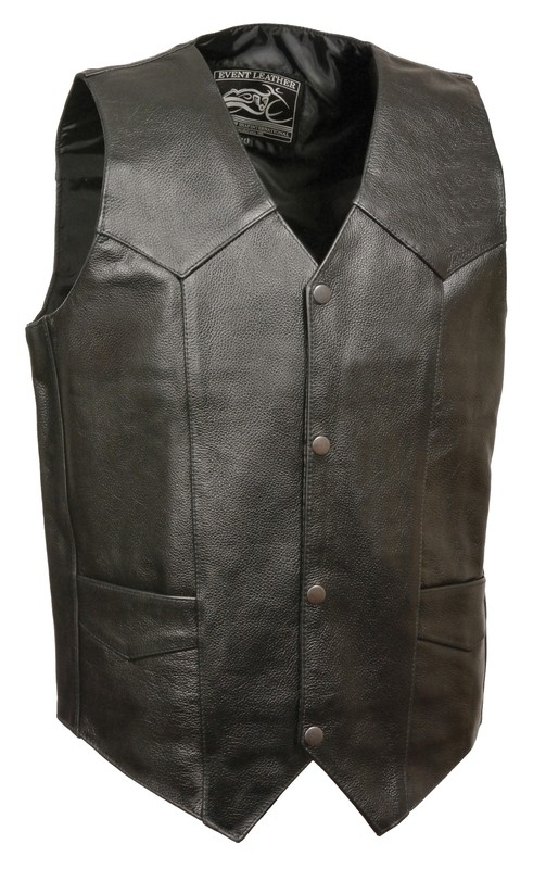 Men leather vest
