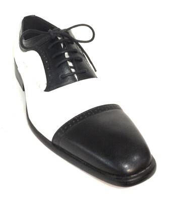 Black And White Men Shoe