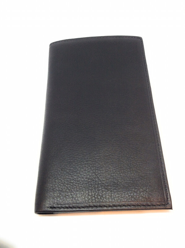 Check book leather wallet