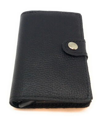 Credit Card Wallet With Button