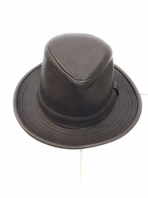 Fedora hats Pu leather color Grey