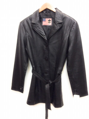 Ladies Lamb Leather Jacket Size S