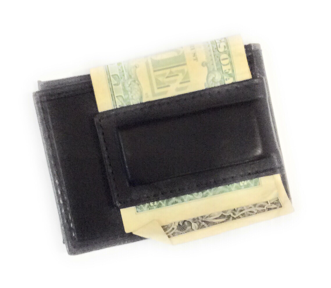 Magnetic money clip with 7 credit card holders