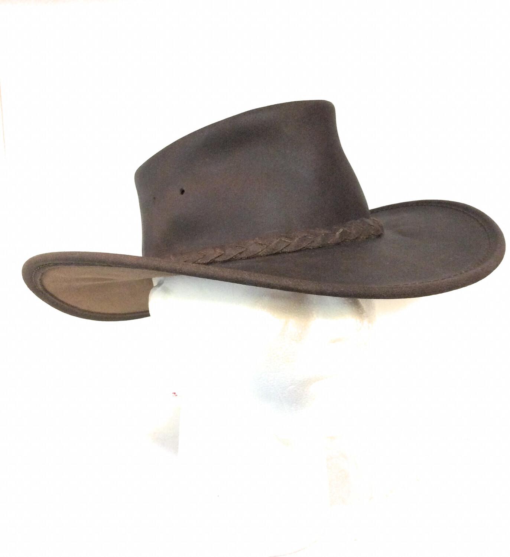 Men Leather Fold Hats