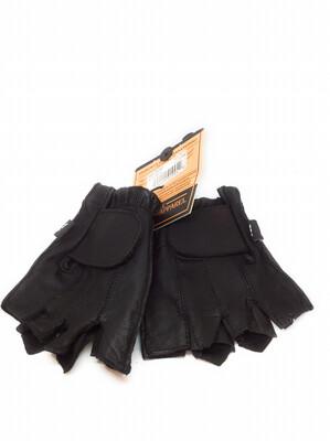 Men half finger gloves Real Leather
