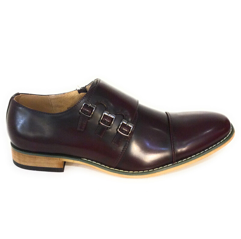 Men Shoe Wine Color Size 8.5 To 13