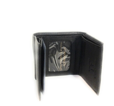 Trifold leather wallet Paul & Taylor brand top quality leather