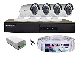 சிசிடிவி கேமரா CCTV camera 2 MP Metal Body 4 CH full set
