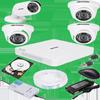 சிசிடிவி கேமரா CCTV camera 1 MP Eco Model Plastic body special offer-Full Set