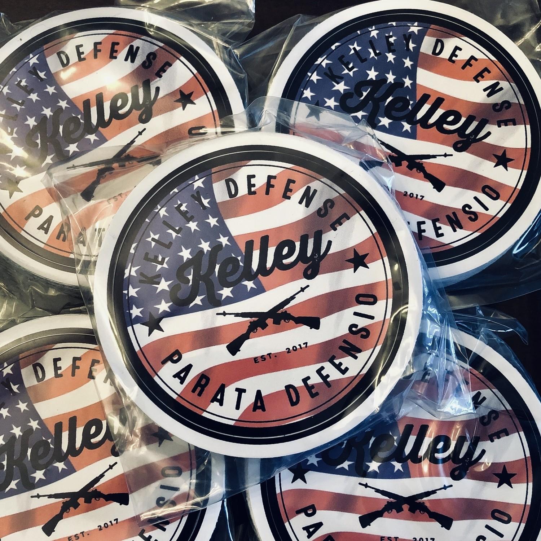 Kelley Defense Stickers (3) pack.