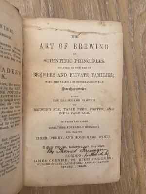 The Art of Brewing or Every Man His Own Brewer (5th Edition)