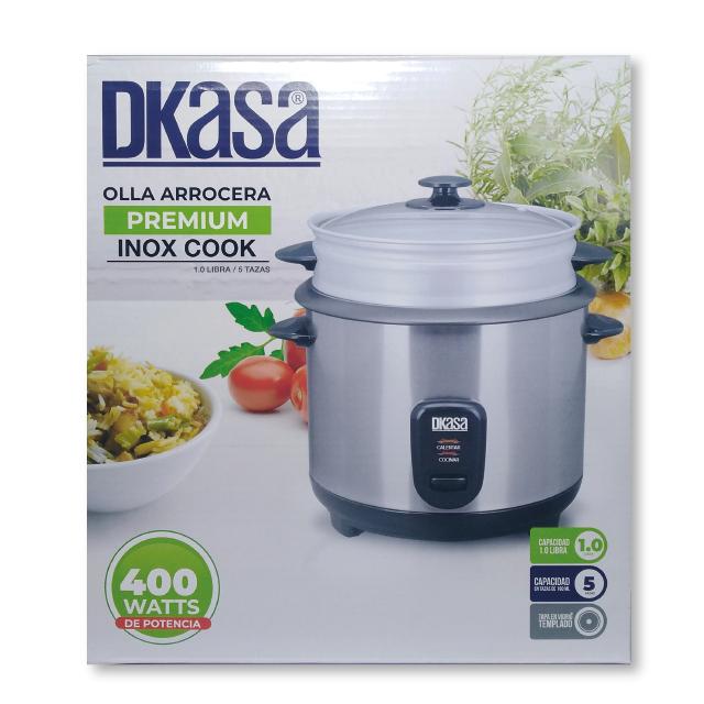 Olla Arrocera x1L Premium Inox Cook Dkasa